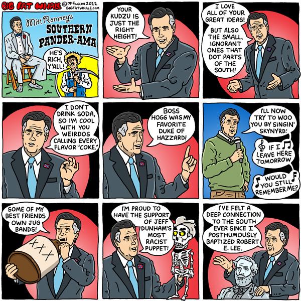 mitt romney pandering political cartoons